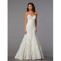 Luxo: Vestido De Noiva Tomara Que Caia Em Tule Nobre Bordado
