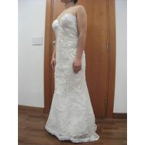 Vestido De Noiva - Renda Pérolas - Scarpin, Presilhas Grátis
