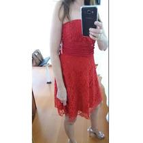 Vestido De Festa Rendado Vermelho Com Bojo Tomara Que Caia