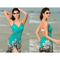 Vestido Canga Saída Praia Piscina Lindo