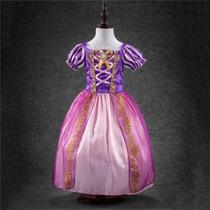 Vestido Fantasia Rapunzel Enrolados Pronta Entrega