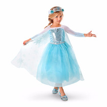 Fantasia Frozen - Princesa Elsa - Original Disney - 5/6 Anos