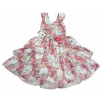 Vestido Infantil Festa Aniversário Casamento Florido Verão