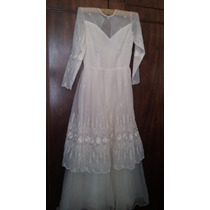 Vestido De Noiva Branco Pérola, Tamanho 40/42. Clássico