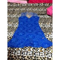Vestido Festa Chique Azul Caneta