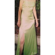Vestido Formatura Verde Claro Cetim (usado 1x)