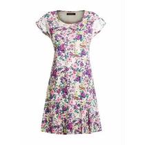 Vestido Plus Size Floral Rosa - Roupa Tamanhos Grandes