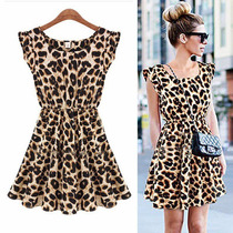 Vestido Chiffon Onça Oncinha Leopardo Tigresa Pronta Entrega