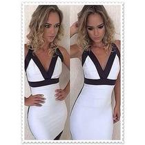 Vestido Bandage Branca Acetinada (lançamento)