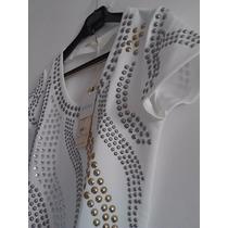 Vestido Curto Estampado Com Pedras - Frete Grátis.