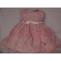 Vestido Infantil Rosa De Renda, Para Festa, Marca Trick Nick