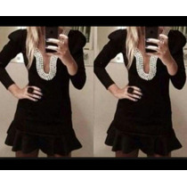 Vestido Em Pérolas Tamanho 36