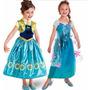 Fantasia Vestido Frozen Fever Elsa E Anna - A Pronta Entrega