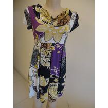 Vestido Estampado Skenn Tam P Viscose/elastano