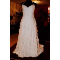 Vestido De Noiva - Center Noivas - Branco - Georgete De Seda