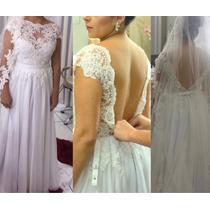 Vestido De Noiva De Renda Francesa