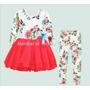 Conjunto De Vestido Saia De Tule E Calça Legging - Infantil