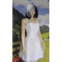 Vestido De Noiva Curto Casamento Civil Pronta Entrega