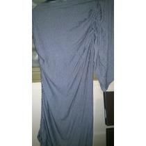 Vestido Mula Manca Listrado Malha
