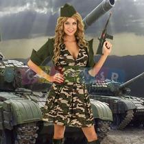 Roupa Exército Feminina Camuflada Soldado - Importada