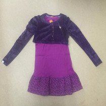 Vestido Marisol Infantil E Bolero Veludo - Roxo Ref: 13809