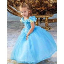 Vestido Cinderela Festa Crianças Filme Lançamento