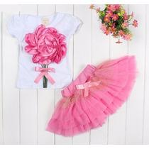 Conjunto Festa Infantil Aniversário Casamento Rosa Princesa