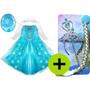 Fantasia Elsa Frozen E Acessórios Vestido Frozen Infantil Ls