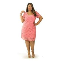 Vestido Tubinho Plus Size De Renda Chantilly Sob Medida