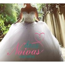Vestido Noiva Debutante Princesa Manga Pronta Entrega