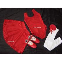 Kit Roupa Bailarina De Ballet Adulto Vermelha