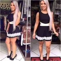 Promoção Black Friday Vestidos Rodado Femininos Renda Guipir