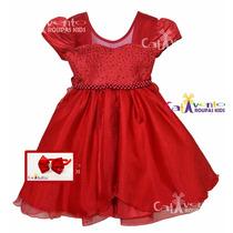 Vestido De Festa Infantil Dama De Honra 04 Ao 12 Com Tiara