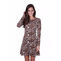 Vestido Animal Print Tigre / Onça Sensual - 30% Off