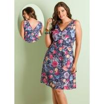 Vestido Decote V Moderno Plus Size - Roupa Gordinhas Lindas
