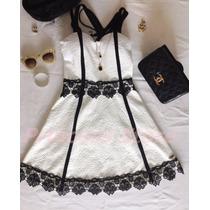 Vestido Feminino Branco Natal Reveillon Verão 2016 Guipir
