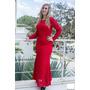 Vestido Longo Renda Vermelho Azul Festa Debutante #vl1 Festa