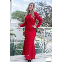 Vestido Longo Em Renda Formatura Madinha Festa Casamento#vl1