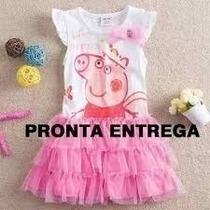 Vestido Peppa Pig - Pronta Entrega