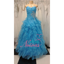 Pronta Entrega Vestido Debutante Azul