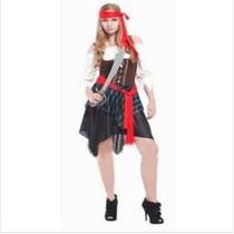 Fantasia Feminina Pirata Combate Importado Arrase Na Festa