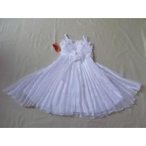 Vestido Infantil Festa/casamento/batizado Branco Com Perolas