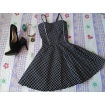 Vestido Vintage Poá Bolinhas Boneca Preto/branco