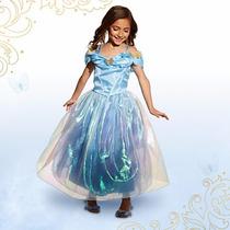 Vestido Cinderela Edição Super Luxo Live Action Film 4 Anos
