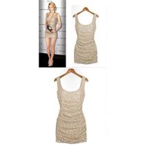 Vestido Em Renda Nude - R$ 39,90 Últimas Peças Tam P