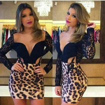 Vestido Tigresa Devine Balada Festa Curto Panicat Oncinha