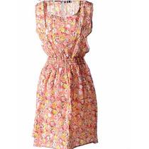Vestido Curto Estampado Flor - Pronta Entrega