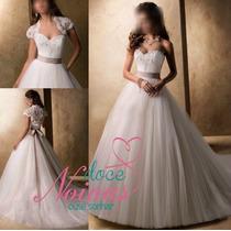 Vestido Noiva Debutante G Gratis Bolero Pronta Entrega Novo
