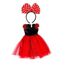 Fantasia Infantil Ratinha Estilo Minie Minnie Carnaval Festa