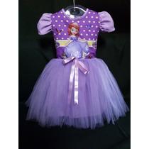 Vestido Infantil Festa Princesa Sofia Fantasia Bailarina